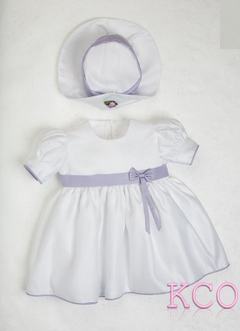 Baby Bow Dress Lilac/White ~ Baby Girls dress